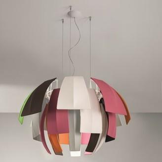 """Orren Ellis Burruss 6-Light Unique / Statement Geometric Chandelier Shade Color: Neutral White, Size: 29.38"""" H x 47.25"""" W x 47.25"""" D"""
