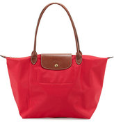 Longchamp Le Pliage Large Shoulder Tote Bag, Red Garance