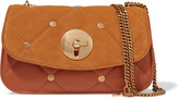 See by Chloe Lois Quilted Suede And Leather Shoulder Bag - Tan
