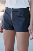 KENDALL + KYLIE Kendall & Kylie Faux Leather Zip Front Shorts