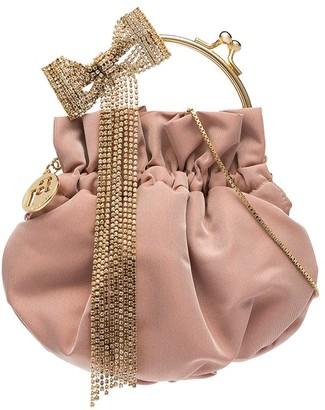 Rosantica Barbie crystal bow mini bag