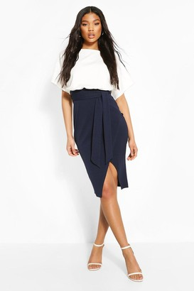 boohoo Colour Block Kimono Sleeve Midi Dress