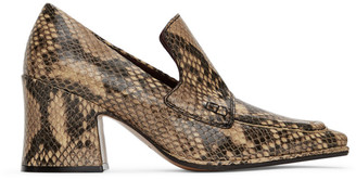 Dries Van Noten Beige Snake Oxford Heels