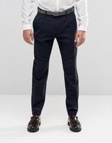 Sisley Wool Blend Slim Fit Cropped Suit Trousers