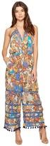 Nicole Miller La Plage By Eric Pompom Beach Playsuit Women's Jumpsuit & Rompers One Piece