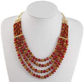Liz Claiborne Red Beaded Necklace