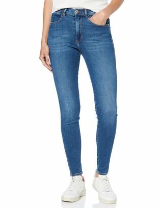 Wrangler Women's High Rise Skinny' Jeans Blue (Mid Indigo X8e) W26/L30