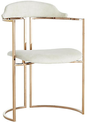 Arteriors Zephyr Chair - White/Rose Gold