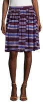 Pleated Knee Length Skirt
