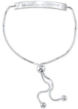 """Unwritten Love"""" Arrow Bolo Bracelet in Sterling Silver"""