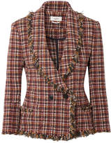 Etoile Isabel Marant Nicole Fringed Cotton-blend Tweed Jacket