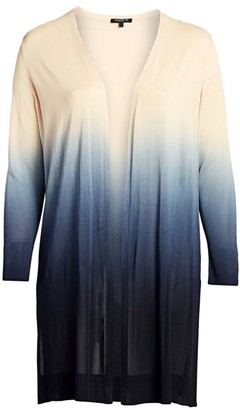 Lafayette 148 New York, Plus Size Open Front Ombre Cardigan Sweater