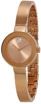 Movado Bold Rose Sunray Dial Rose Gold-tone Ladies Watch