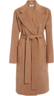 Acne Studios Carice Double Oversized Belted Wool Coat