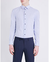 Armani Collezioni Regular-fit Checked Cotton Shirt