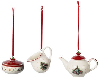 Villeroy & Boch Toy's Delight Coffee Set Christmas Decorations (Set of 3)