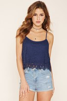 Forever 21 FOREVER 21+ Scalloped Lace Cami