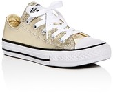 Converse Girls' Seasonal Metallic Lace Up Sneakers - Toddler, Little Kid