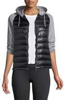 Herno Combo Quilted Jacket w/ Fleece Hood