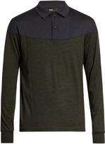 Kolor Contrast-panel wool sweater