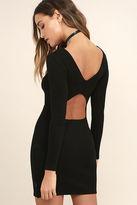 RVCA Fallen Black Long Sleeve Bodycon Dress