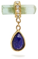 Jacquie Aiche Diamond, crystal, lapis & yellow-gold earring