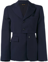 Comme des Garcons deconstructed blazer - women - Wool/Mohair/Cupro/Polyester - S
