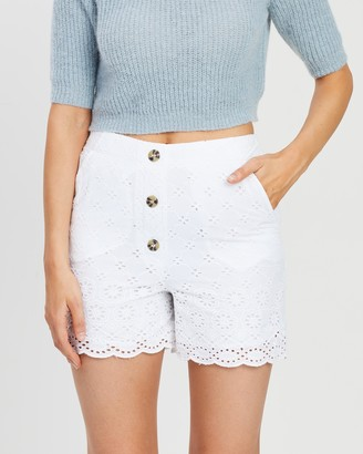 Dorothy Perkins Cotton Broderie Shorts