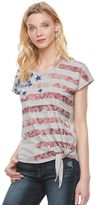 Rock & Republic Women's Paisley Flag Graphic Tee