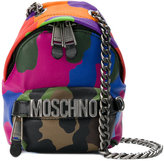 Moschino logo backpack shoulder bag - women - Leather - One Size