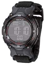 Sector Sports Watch R3251172325 In Collection Street with Digital Display, Black Dial and Strap