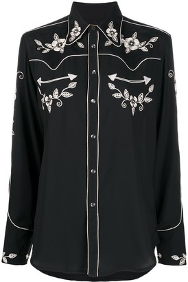 Polo Ralph Lauren floral embroidered Western shirt