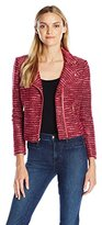 Juicy Couture Black Label Women's Knt Boucle Moto Jacket