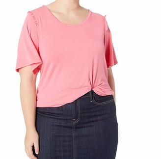 Hue Women's Short Sleeve Ruffle Flounce Pajama Sleep Tee