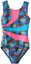 Jacques Moret Girls 4-14 Splatter Colorblock Leotard
