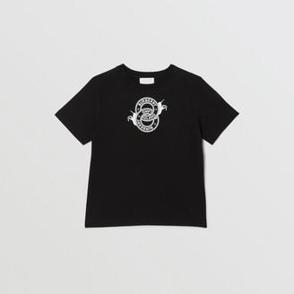 Burberry Childrens Logo Graphic and Unicorn Print Cotton T-shirt