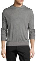 Theory Villings Admiral Striped Crewneck Sweater, Black Pattern