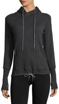 Betsey Johnson Ribbed Cotton Hoodie