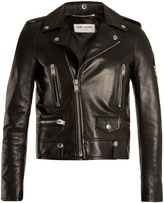 Saint Laurent Shrunken-fit leather biker jacket