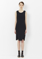 Issey Miyake black pistachio pleats solid dress