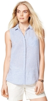 Tommy Hilfiger Final Sale- Linen Cotton Sleeveless Shirt