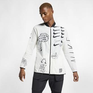 Nike Men's Printed Running Jacket Nathan Bell