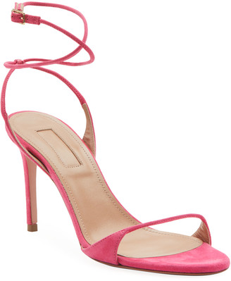 Aquazzura Minute Suede Strappy Pumps