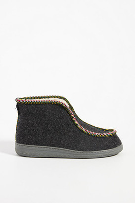 Penelope Chilvers Felted Wool Slipper Boots By in Grey Size 36