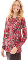 J. Jill Layered Long-Sleeve Paisley Top