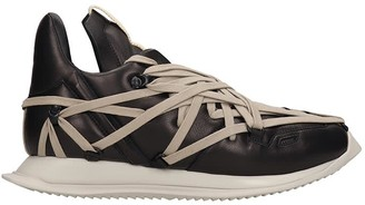 Rick Owens Maximal Runner Sneakers In Black Leather