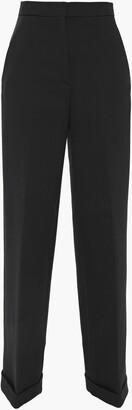 Philosophy di Lorenzo Serafini Wool And Cotton-blend Crepe Wide-leg Pants