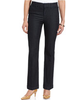 JM Collection Petite Twill Straight-Leg Trousers, Only at Macy's