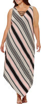 S.O.H.O New York Sleeveless Stripe Maxi Dress-Plus