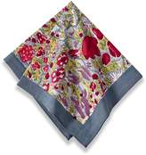 Couleur Nature Jardine Napkins, 19-inches by 19-inches, Red/Grey